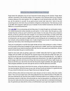 Mba Admission Essay Sample Why Do You Need Mba Essay Editing