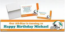 thank you card miami dolphins template custom miami dolphins invitations thank you notes