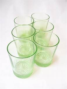 Light Green Vintage Glassware Glassware Vintage Depression Glass Green By Recyclebuyvintage