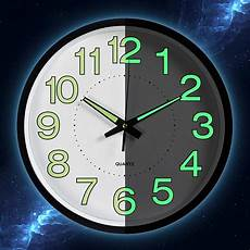 Inch Wooden Creative Luminous Silent by 12 Inch Luminous Silent Wall Clock Canvas Frenzy