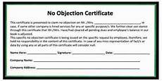 No Noc Request Latter Of No Objection Certificate For Higher
