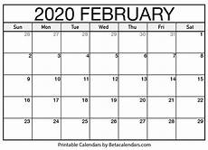 month calendar february 2020 printable february 2020 calendar beta calendars