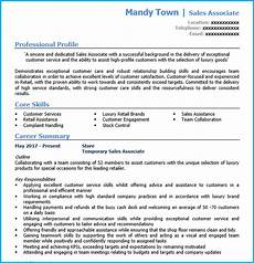 Sample Retail Cv Retail Sales Assistant Cv Example Writing Guide And Cv