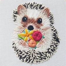 hedgehog embroidery pattern pdf crewel embroidery