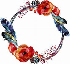 floral wreath watercolor frame boho ftestickers