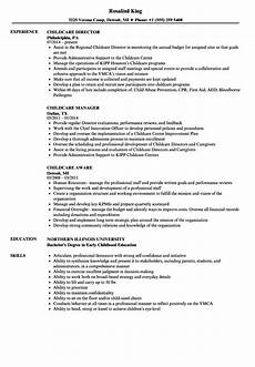 Resume For Child Care Director Early Childhood Education Child Care Resume Sample Best