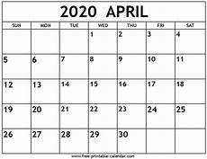 print calendar april 2020 april 2020 calendar free printable calendar com