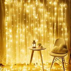 How To Make A String Light Curtain Torchstar 9 8ft X 9 8ft Led Curtain Lights Starry