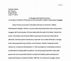Hamlet Literary Analysis Essay Hamlet Critical Analysis Critical Analysis Of Hamlet By