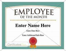 Employee Of The Month Award Employee Of The Month Certificate Business Award Employee
