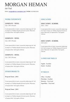 Cv Simple Basic Cv Templates For Word Land The Job With Our Free