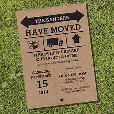 Housewarming Party Invitations We Have Moved Kraft Housewarming Invitation Housewarming