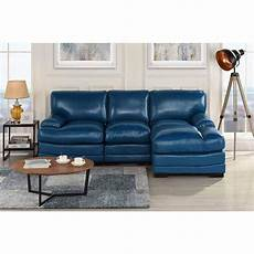 Navy Chaise Sofa 3d Image by Navy Blue Leather Match Sectional Sofa L Shape Modern