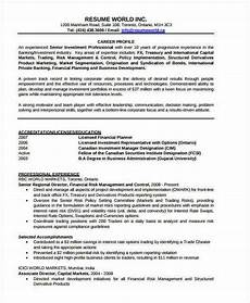 Resume Format For Banking Jobs Banking Resume Samples 46 Free Word Pdf Documents