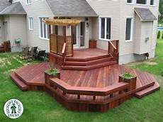 Two Level Deck Designs How Is This One For A Beautiful Deck This Two Level Deck