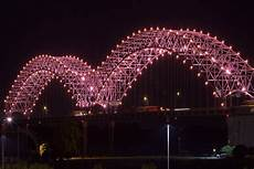 Hernando De Soto Bridge Lights 15 July Martyrs Bridge Istanbul Turkey Color Kinetics
