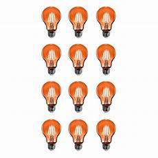 Orange Filament Light Bulb Feit Electric 25w Equivalent Orange Colored A19 Dimmable