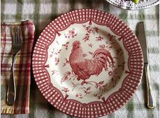 Country Decorative Plates & RESERVED Kitchen Wall Decor