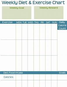 Free Exercise Chart Taking Time To Create Diet Amp Exercise Printable