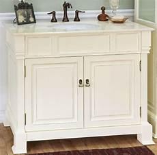 42 inch single sink bathroom vanity in white