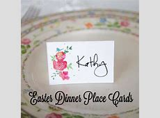Easter Dinner Place Cards   My Life Abundant