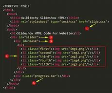 Html Code Slideshow Html Code For Website Wikitechy