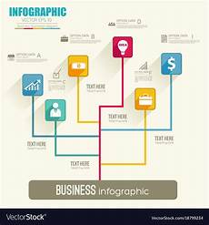 Flowchart Template Web Infographic Flowchart Template Royalty Free Vector Image