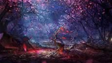 Digital Artwork Digital Art Forest Trees Colorful Art Artwork