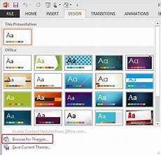 Theme Microsoft Powerpoint Applying Themes In Powerpoint Word And Excel 2013