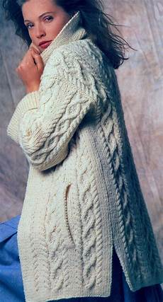 knitting jacket gorgeous aran coat knitting pattern fits chest 34