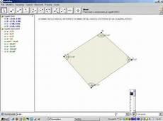 somma angoli interni quadrilatero somma degli angoli interni ed esterni di un quadrilatero