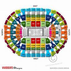 Concert Seating Chart Quicken Loans Arena Quicken Loans Arena Concerts Seating Guide For Live Music