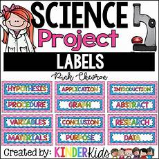 Science Fair Project Headings Science Fair Project Labels Pink Chevron With Editable