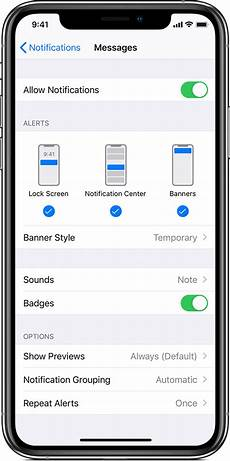 How To Get The Light Notification On Iphone Use Notifications On Your Iphone Ipad And Ipod Touch