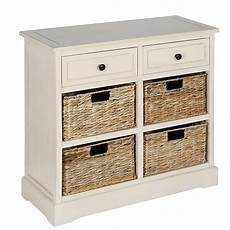 wooden drawers and 4 basket hallway storage unit