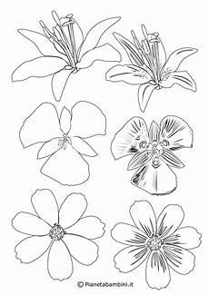 fiori disegni per bambini 81 sagome di fiori da colorare e ritagliare per bambini