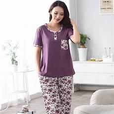 sleeve pajamas for fashion 2017 summer cotton pajamas set small floral