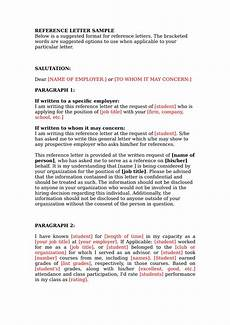 Letter Of Reference Example 19 Reference Letter Examples Pdf Word Examples