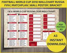 Fifa World Cup Russia Wall Chart Wallchart Fifa 2018 World Cup Russia Pdf Printable Bracket