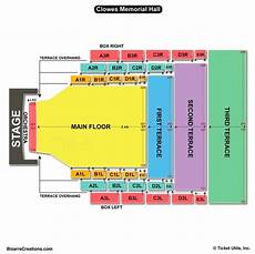 Memorial Chart Clowes Memorial Hall Seating Chart Seating Charts Amp Tickets