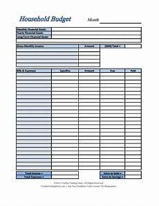 Houshold Budget Household Budget Template Free Download Create Edit