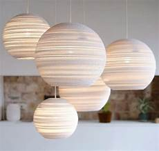 Moon Light Shade Moon Pendant Light Made From Recycled Cardboard