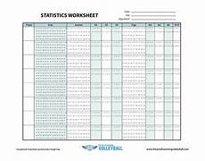 Volleyball Stat Sheet Statistics Worksheet The Art Of Coaching Volleyball