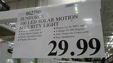 Costco Led Motion Light Sunforce 100 Led Solar Motion Security Light Costco