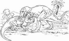dinos am kaempfen ausmalbild malvorlage tiere