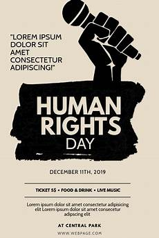 Protest Flyer Template Human Rights Day Flyer Design Template Postermywall