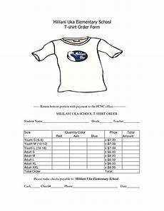 Free Clothes Sample School T Shirt Order Form Template Order Form Template