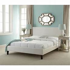 rest rite white upholstered bed hcrrwhpdbedqn the