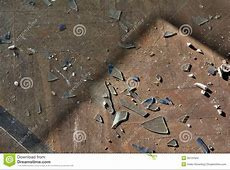 Broken Glass On A Floor Stock Images   Image: 35131054