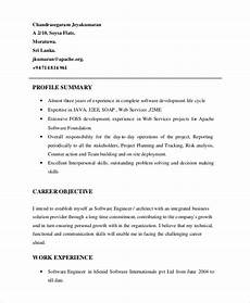 Career Overview Sample Free 7 Resume Profile Samples In Pdf Ms Word